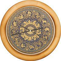 Гравюра на стали - Часы «Знаки зодиака»