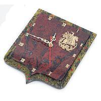 Настенные часы «Герб» бронза змеевик