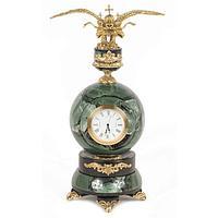 Часы «Двуглавый орел» офиокальцит бронза