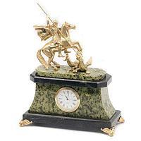 Часы «Георгий Победоносец» бронза змеевик