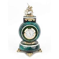 Часы «Георгий-Победоносец» змеевик бронза (вариант 2)