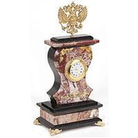 Часы «Герб» креноид змеевик бронза