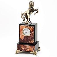 Часы «Конь с попоной», камень яшма (вариант 2)