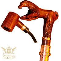 """Сувенирная трость с курительной трубкой """"Конь"""""""