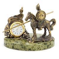Часы «Нужный, камень» бронза змеевик