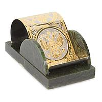 Подставка под телефон «Герб России» нефрит 155х90х75 мм.