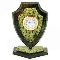 Часы «Щит» большой, камень змеевик