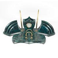 Настольный набор, камень змеевик, (вариант 6)