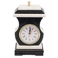 Часы со шкатулкой «Ретро» мрамор змеевик