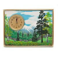 Настольные часы с панно на МДФ «Летний пейзаж» (20х15 см)
