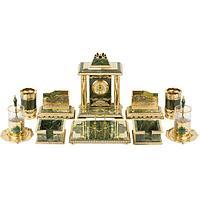 Настольный набор «Президентский» нефрит бронза