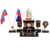Настольный набор «Россия», камень яшма