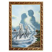 Картина «Бегущие лошади», багет - 40х60 см.