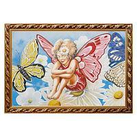 Картина по мотивам сказки «Дюймовочка», багет - 40х60 см.