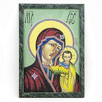 Картина «Казанская Божья Матерь рамка змеевик» (20х30см)