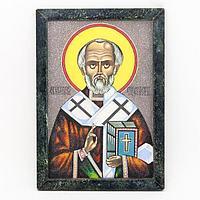Картина «Святой Николай Чудотворец рамка змеевик» (20х30см)