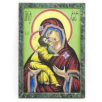 Картина «Владимирская Божья Матерь рамка змеевик» (20х30см)