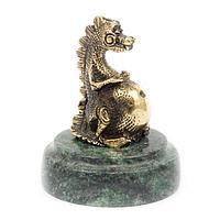 Статуэтка «Пузатый дракон» бронза змеевик