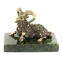 Статуэтка знак зодиака «Овен» бронза змеевик