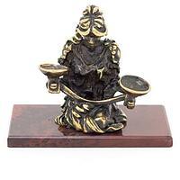 Статуэтка знак зодиака «Весы» бронза яшма