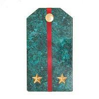 Магнит «Лейтенант» (вариант 2), камень змеевик