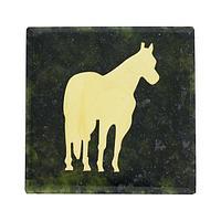 Магнит «Лошадь» (вариант 2), камень змеевик