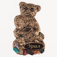 """Магнит """"Медведь с бочонком"""" 110х65"""