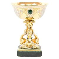 Ваза «Виноград» (вариант 2), камень-нефрит