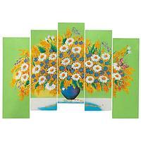 Картина модульная на МДФ «Полевые цветы» 60х100 см