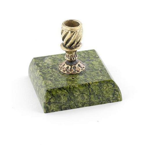Подсвечник «церковный» (вариант 2), камень змеевик