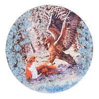 Магнит с рисунком «Орел» змеевик 110х110 мм.