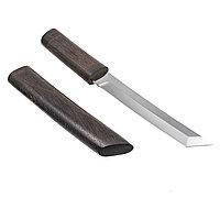Кованый нож «Танто» из стали Х12МФ рукоять и ножны из граба