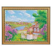 Картина «Сирень под окном», багет - 30х40 см.