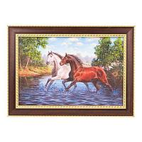 Картина «Скакуны», багет - 20х30 см.