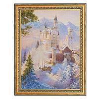 Картина «Сказочный замок», багет - 30х40 см.