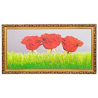"""Картина """"Три розы"""" багет №6,5 (33х70 см) ZO04"""