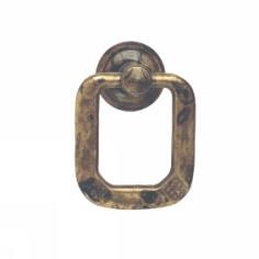 Ручка-кольцо, *Jugendstil* 32х41мм, латунь пат., винт