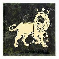 Магнит знак зодиака «Лев», камень змеевик