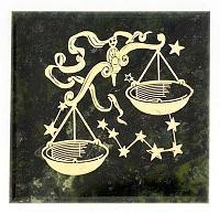 Магнит знак зодиака «Весы», камень змеевик