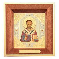 Икона «Николай Чудотворец», деревянный оклад