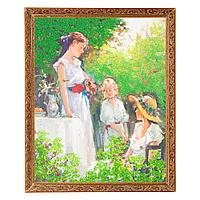 "Картина ""Завтрак в парке"" багет №5 (40х50 см) 7280"