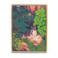Панно «Волки в лесу»