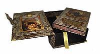 Книга «Сокровищница мудрости» (В коробе с тайником) в кожаном переплете