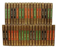 Книга «Золотая библиотека приключений» в кожаном переплете