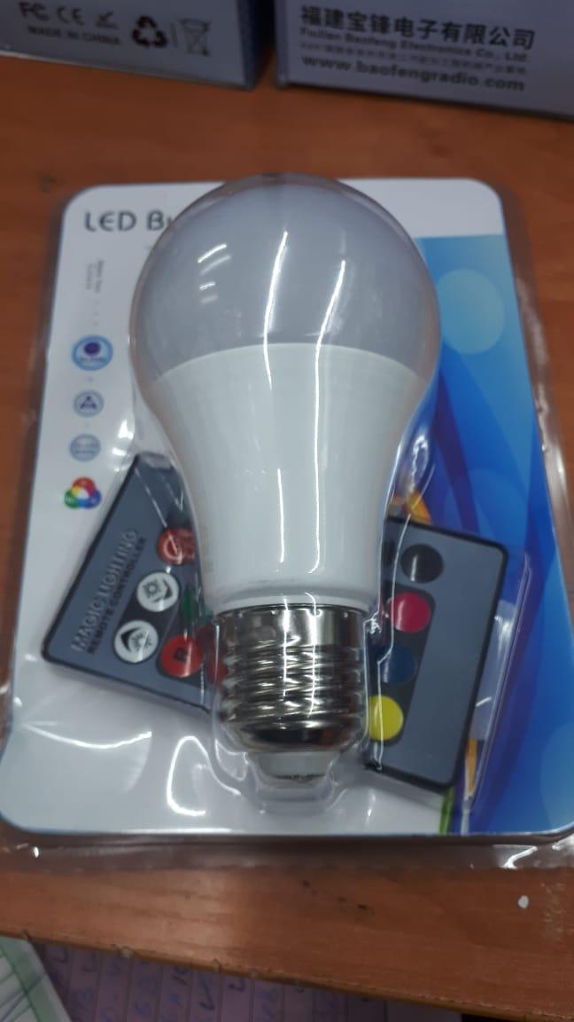 Лампочка с пультом управления цветом 60W