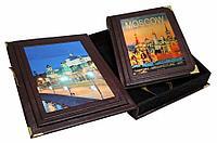 Книга «Moscow. History-Architecture-Art» в кожаном переплете