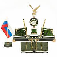 """Настольный набор """"Орел"""" змеевик 400х290х335 мм 7000 гр."""