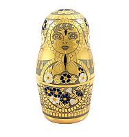 Сувенир «Матрешка» рюмка с часами