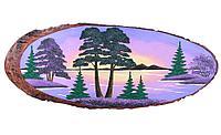 Картина на дереве «Рассвет» 60-65 см
