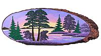 Картина на дереве «Рассвет» 70-75 см